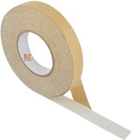 Bapna SINGLE SIDED 25 MM WIDTH X 15 METER LENGTH Small ANTI SLIP TAPE Anti Skid (ANTI SKID TAPE OR ANTI SLIP TAPE) (Set Of 1, WHITE WITH BROWN RELEASE PAPER)