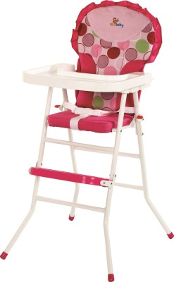 Sunbaby High Chair (White,Pink)