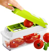 Caryn Genius Nicer Dicer Plus Veg & Fruit Chopper Green, White