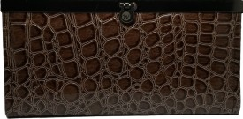 Fusion Clutches Casual, Formal Brown PU  Clutch