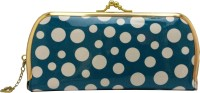Fusion Clutches Casual, Party, Festive White, Blue Plastic  Clutch
