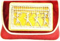 Women Trendz Women Party Yellow, Red Fabric  Clutch