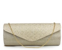 Do Bhai Party Gold Artificial Leather  Clutch