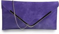 Contrast Purple Frame Clutch (Purple)