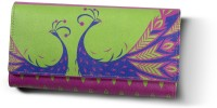 Mad(e) In India Classic Peacock Women's  Clutch - Multicolor
