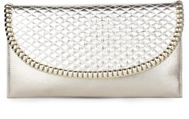 Do Bhai Women Party Gold Non-Leather  Clutch