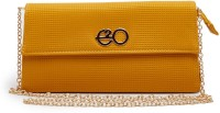 E2O Women Casual Yellow PU  Clutch