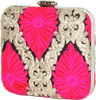 Glitters Girls, Women Party, Casual Pink Fabric  Clutch - CLTECCKVUKY89FWE