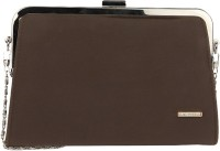 Lino Perros Women Casual Brown Leatherite  Clutch