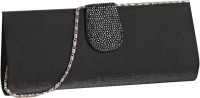 Aapno Rajasthan Bewitching Black Suede Women Party Black Suede  Clutch