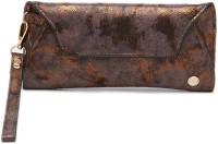 E2O Women Casual Brown Artificial Leather  Clutch