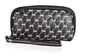 Orkee Women Casual Black Genuine Leather  Clutch