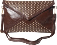 Hotberries LCCOS-1600 Women Casual Brown Polyurethane  Clutch