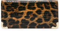 Qolodzire Animal Print Premium Women Casual Brown PU  Clutch