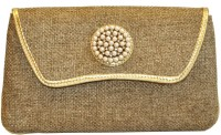 Women Trendz Women Casual Brown Jute  Clutch