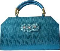 Freddys Fancy Silk Women Festive, Casual Blue Satin  Clutch