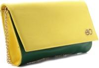 E2O Women Casual Yellow  Clutch