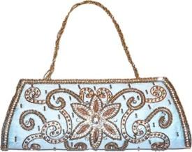 Asian Aura Blue Fabric  Clutch
