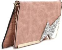 E2O Women Pink Artificial Leather  Clutch