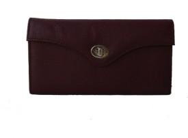 Klaska Women Casual Purple Genuine Leather Clutch
