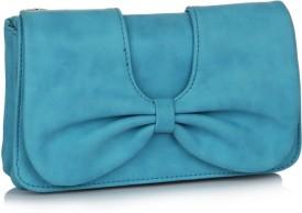 Butterflies Women Casual Blue PU  Clutch