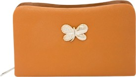 Polki Casual Tan Leatherette  Clutch
