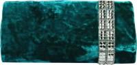 Arisha Kreation Co Women Casual Blue Velvet  Clutch