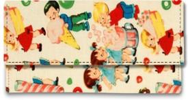 Shoprider Casual Multicolor Genuine Leather Canvas  Clutch