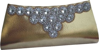 Spice Art Women Party Gold Cotton Silk Clutch available at Flipkart for Rs.945
