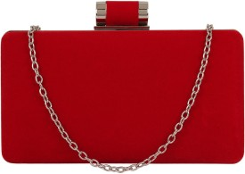 PamperVille Party Red Suede  Clutch