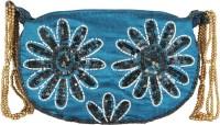 Glitters Girls, Women Party, Casual Blue Fabric  Clutch