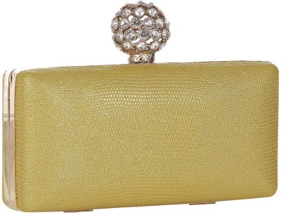 Get best deal for Alessia Women Casual Yellow Synthetic Clutch at Compare Hatke