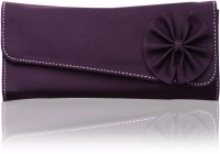 Fostelo Flower Pattern Clutch Purple