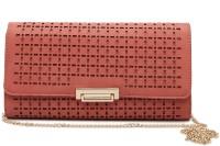 E2O Women Casual Pink Artificial Leather  Clutch