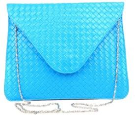 Just Women Women Casual Blue Artificial Leather  Clutch