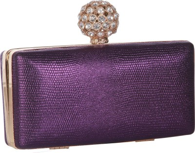 Get best deal for Alessia Women Casual Purple Synthetic Clutch at Compare Hatke
