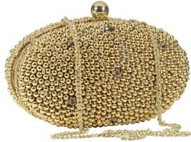 Sadaf Gold Silk  Clutch