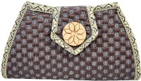 Mpkart Girls, Women Casual Brown Jute  Clutch