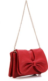 Butterflies Women Casual Red PU  Clutch