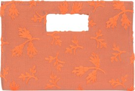 SATVAH Orange Silk  Clutch
