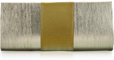Oleva Silk Crystal Clutch Light Grey