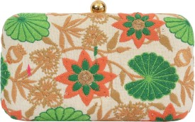 SATVAH Multicolor Silk  Clutch