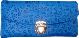 Ud Creation Casual, Wedding, Party, Sports Blue Artificial Leather  Clutch