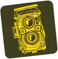 Posterguy Square Wood Coaster Yellow, Brown, Pack Of 1