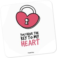 PosterGuy You Are The Key To My Heart Valentine's Day Love Wood Coaster (Pack Of 1)