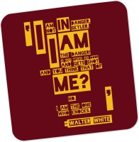PosterGuy I Am The Danger Walter White Quote Breaking Bad Typography TV Series Inspired Wood Coaster (Pack Of 1)