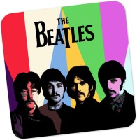 PosterGuy Beatles Fan Art Graphic Illustration Wood Coaster Multicolor, Pack Of 1
