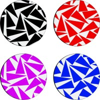 Sajawathomes Colorfull Pattern Of Four Design 45 Wood Coaster Set (Pack Of 4)