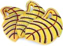 Indikala Yellow Leaf Shaped Wooden Coaster Set - Pack Of 3