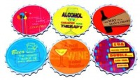Shor Sharaba 6 Pcs In 1 Set Wood Coaster Set Multicolor, Pack Of 6